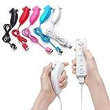 takestop Nunchuck Controller per Nintendo Wii Controller Remote Bianco Compatibile Colore Casuale Nero Bianco Azzurro Senza possibilità di Scelta