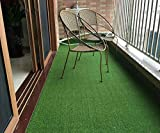DAMAC Soft and Durable Plastic Turf Artificial Grass Carpet Mat for Balcony, 6.5