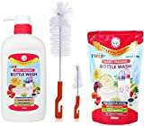 Farlin Liquid Cleanser Bottle Wash multiuse cleanser Refill 700ml With Bottle 700 ml With Bottle Brush
