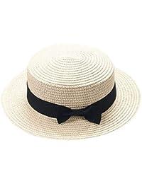ff51ddc0e6074 Sombrero De Paja Plegable para Mujeres Hombres Niños Sombrero De Playa  Panamá De Especial Estilo Paja