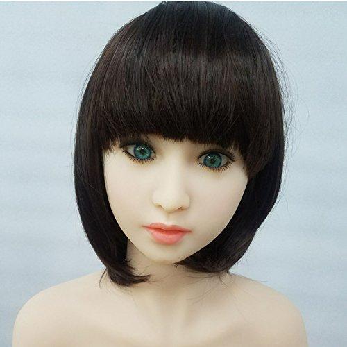 Liebe Puppe Hochwertige Perücke, Natürliche Geschmeidig, Kann Gebügelt Werden, Geeignet für die Meisten Kopfgröße (Kurz, Schwarz)