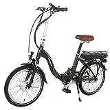 onWay E-Bike Klapprad, faltbares E-Bike 20-Zoll, bis 25kmH, Pedelec, Shimano Nexus 7-Gang, Farbe Schwarz