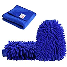 2 Pack Ultra-soft Premium Car Cleaning Microfiber by Tougo,Chenille Microfiber Wash Gloves for Car Or Household Cleaning