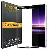 UniqueMe Protection écran [2 pièces] pour Sony Xperia 1, Ultra Résistant Film Dureté 9H sans Bulle Verre Trempé