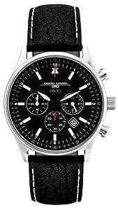 Reloj Jorg Gray JG6500 de caballero de cuarzo con correa de piel negra - sumergible a 100 metros de Jorg Gray