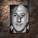 DUSTIN HOFFMAN - Canvas Clock (A4 - Signed by the Artist) #js001