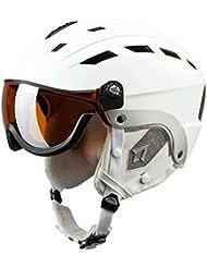 TECNOPRO Casco de esquí Titan, invierno, color blanco, tamaño small/medium