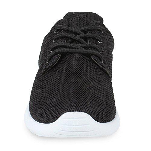 Damen Sportschuhe | Übergrößen | Trendfarben Runners | Sneakers Laufschuhe | Fitness Prints Schwarz