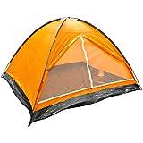 Milestone Camping Dome Two Person Tent - Orange
