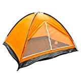 Milestone Camping Dome Four Person Tent - Orange