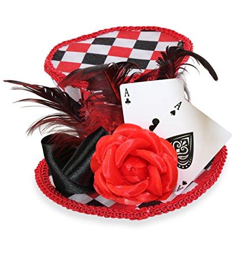 , Herz Dame, Herz König, Minizylinder (Alice Im Wunderland Spielkarten Kostümen)