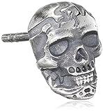 caï Herren-Ohrstecker mit Totenkopf Motiv 925 Silber vintage-oxidized ca. 10 mm