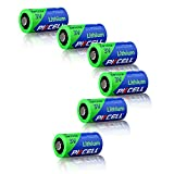 PKCELL 6 Stück CR2016 BR2016 DL2016 ECR 2016 Lithium Knopf Batterien 2/3A 3V CR123A CR123 CR 123 CR17335 123A CR17345(CR17335) 16340 Lithium Batterien