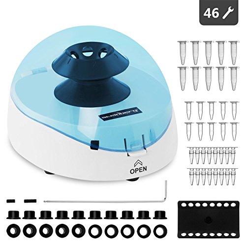 Steinberg Systems Centrífuga Laboratorio Centrifugadora de Laboratorio Micro Mini (16 x 0,5 ml, 15 W, RCF 700 g, 3.500 rpm, 18,5 x 16 x 12,5 cm, Accesorios incl.)
