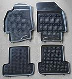 ZentimeX Z744394 Schalenmatten fahrzeugspezifisch mit Anti-Rutsch-Noppen (Durchmesser circa 18mm) schwarz