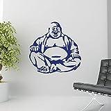 Sticker Studio Laughing Buddha Wall Sticker (PVC Vinyl,58 CM X 58 CM)