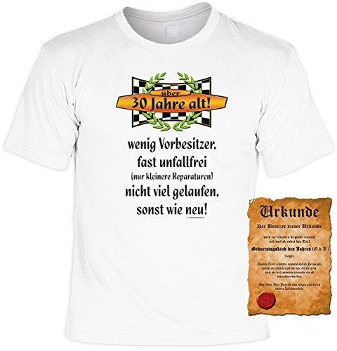 Geschenk zum 30. Geburtstag Sprüche Motiv Fun T-Shirt Geschenkidee Männer auch in Übergrößen 3XL 4XL 5XL Weihnachtsgeschenk weiß-02