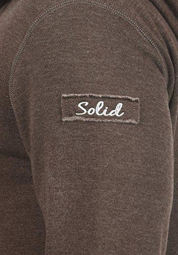 !Solid TripZip Herren Sweatjacke Kapuzenjacke Hoodie mit Kapuze Reißverschluss und Fleece-Innenseite, Größe:3XL, Farbe:Coffee Bean Melange (8973) - 4