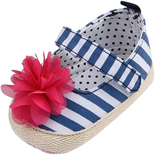 (Fire Frog Baby Mary Jane Shoes, Baby Mädchen Lauflernschuhe, blau - blau - Größe: 0-6 Monate)