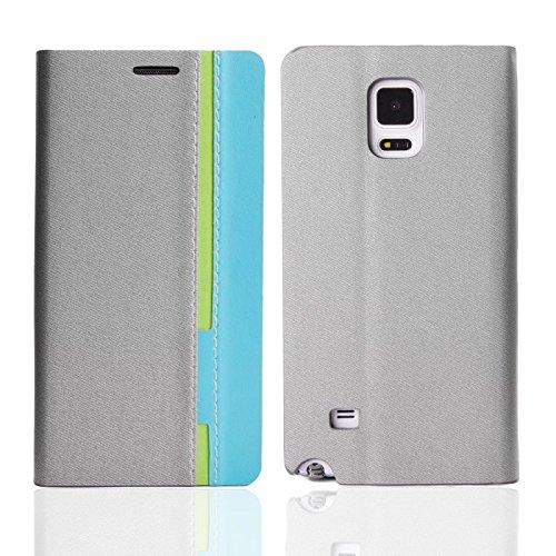 Handy-Hülle Schutz-Hülle Cover Flip Case Samsung Apple Sony Nokia Oneplus one LG, Farben:Schwarz;Für Handy Modell:Apple iPhone 6 Plus (5.5) Grau/Hellblau