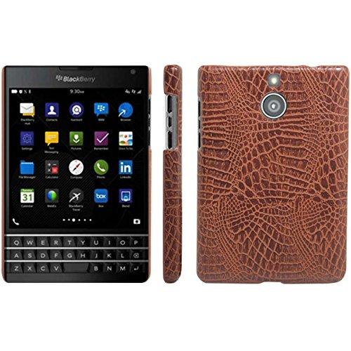 BlackBerry Passport Silver Edition Hülle, HualuBro [Ultra Slim] Premium Leichtes PU Leder Leather Handy Tasche Schutzhülle Case Cover für BlackBerry Passport Silver Edition Smartphone (Braun)