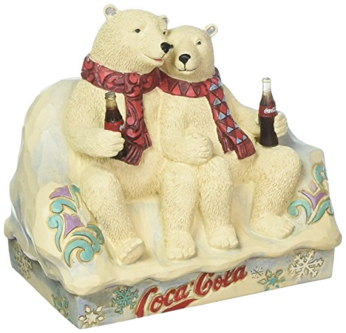 ENESCO Coca-Cola Polar Bear Couple Figurine Standard
