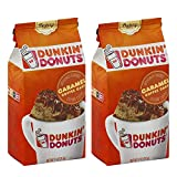 Dunkin' Donuts Bakery Series Caramel Coffee Cake Flavoured Ground Coffee - American Imported Roasted Kaffee, 311 Grams (11 Oz.) Per Bag 2-Pack