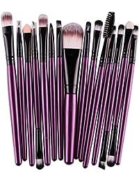 Tefamore Conjunto De Brochas Cepillo Herramientas De Maquillaje Kit De Tocador Lana (15 piezas-