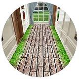 HAIPENG-alfombras pasillo Camino Diseño Corredor Antideslizante Alfombras Pila Baja Alfombra para Cocina y Entrada Personalizado (Color : A, Tamaño : 0.8x7m)