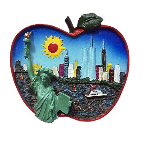 Statue of Liberty New York Amerika Kunstharz 3D starker Kühlschrank Magnet Souvenir Tourist Geschenk Chinesische Magnet Hand Made Craft Creative Home und Küche Dekoration Magnet Sticker
