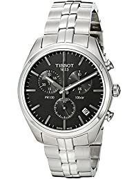 Tissot Hombre t1014171105100analógico pantalla Cuarzo Reloj, color negro y plata