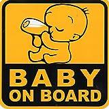 Baby im Auto (baby on board) Aufkleber Folie 1 Blatt 130 mm x 130 mm wetterfest