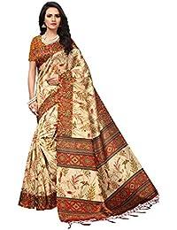 Pisara Women's Art Silk Printed Saree With Blouse Piece