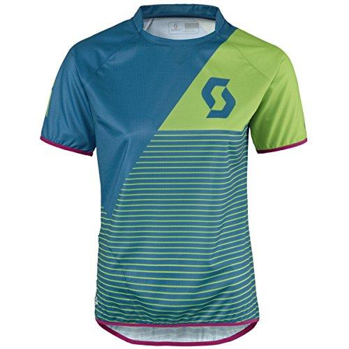 Scott Progressive Pro Damen Fahrrad Trikot kurz grün/blau 2016: Größe: M (38/40) -