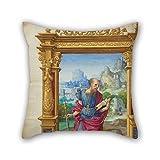 Guanciale di pittura ad olio Master of the Getty Epistles (francese, Active circa 1528–circa 1549)–Getty Epistles 45,7x 45,7cm/4545cm di Best Fit per berlina indoor Teens Benc