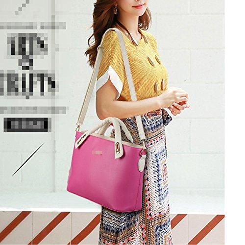 Lady Fashion 3 Stücke Sets Pu-leder Handtasche Einkaufstasche Schultertasche Crossbody Taschen Für Frauen Multicolor Red2