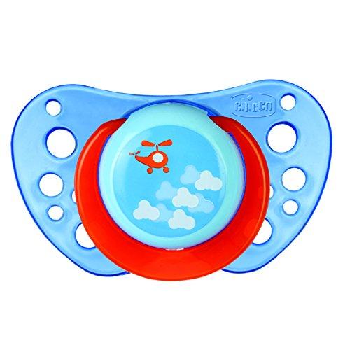 Chicco 00075035210000 Air Boy Succhietto, Silicone, Blu/Verde, 12+ Mesi, 2 Pezzi
