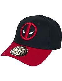 Deadpool Logo Gorra de beisbol negro/rojo