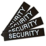 Namensschild Namensband 4er Satz Security-Schwarz m. Klett angeklebt