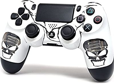 """Illuminating Skulls"" Ps4 Rapid Fire Custom Modded Controller 35 Mods COD BO3, Advanced Warfare, Destiny, Ghosts Quick Scope Auto Run Sniper Breath and More"