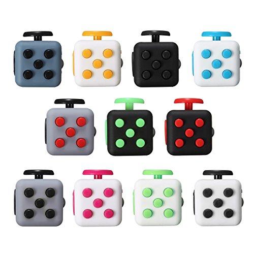 #Cube Würfel, LuckyFine Zappeln Cube Würfel unruhige Hände Anti Stresswürfel Cube, Perfektes Spielzeug für Entlastet Stress, Angst und Langeweile Bekämpfen # 8#