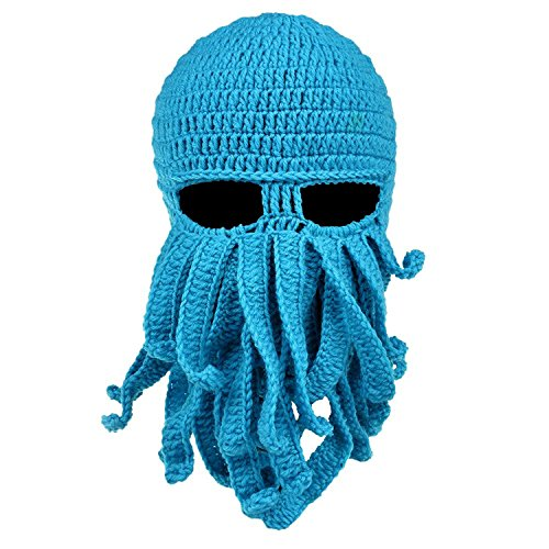 SF Party Hut Barbarischer Bart Hüte Octopus Beanie Knit Maske lustige Mütze für Herren und Damen