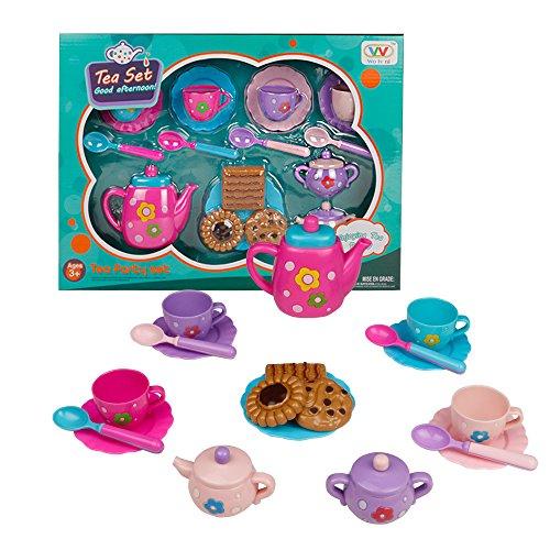 Akokie Teeservice Kinder Set Tee Set Teeservice Kinderküche Großes Geschenk für Jungen Mädchen...
