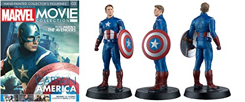 FIGURA DE RESINA MARVEL MOVIE COLLECTION Nº 3 CAPITÁN AMÉRICA
