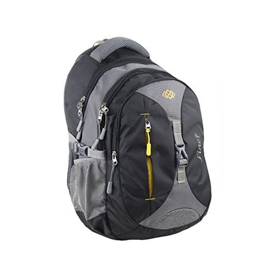 Finer Backpack|College Bags|Office Laptop Bagpacks|Bags for Men Women Stylish Trendy|Fancy Travel Backpack Water Resistance|Tool Bags| 34 litres (with raincover) (Grey & Black)