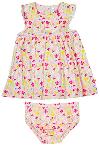 Baby Girls Pink Floral Dress & Knickers Set Cotton Outfit Sizes from Newborn to 12 Months