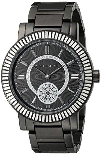 Vince Camuto para mujer reloj infantil de cuarzo con esfera analógica y negro correa de acero inoxidable de VC-5199BKBK