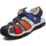 Geschlossene Sandalen Sommer Strand Outdoor Sport Trekking Klettverschluss Schuhe Für Kinder Jungen Mädchen, Blau 27