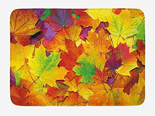 gthytjhv - Zerbino Different Colored Vibrant Many Autumn Maple Leaves Nature in Novembre Scenery Photo 23.6 x 15.7 Pollici in Microfibra per Interni ed Esterni