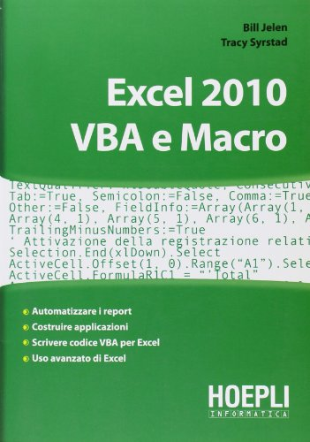 Excel 2010. VBA e Macro